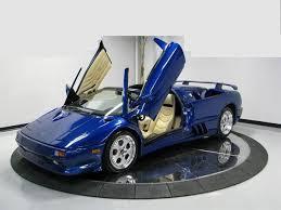 blue lamborghini diablo 1997 used lamborghini diablo diablo vt roadster at sports car