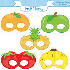 Printable Halloween Masks For Children by Fruits Printable Masks Strawberry Mask Banana Mask Orange