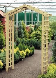 wooden trellis garden arch internet gardener