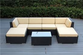 Free Patio Furniture Ohana 7 Piece Outdoor Wicker Patio Sofa Set With Free Patio Cover