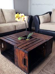 epic wood crate coffee table fair coffee table decor ideas with