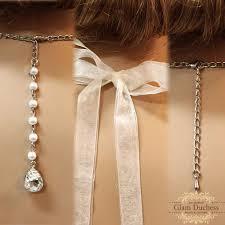 wedding backdrop necklace silver rhinestone bridal choker wedding backdrop necklace