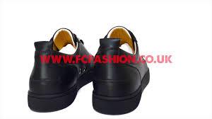 christian louboutin mens sneakers black gun metal louis junior