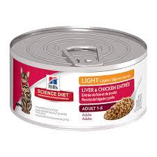 science diet light dog food hill s science diet light liver chicken entree feline cans