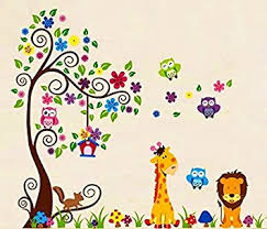 Animal Wall Decals For Nursery Nursery Forest Animal Wall Decals Nursery Wall Decals