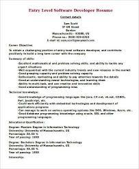 Entry Level Java Developer Resume Sample by Sample Software Developer Resume 9 Examples In Word Pdf
