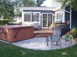 Deck In The Backyard Tub Deck In Hoffman Estates Il Pool And Spa Decks Photo