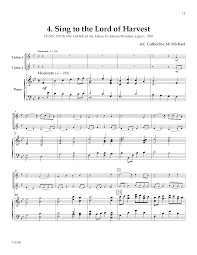 songs of praise and thanksgiving hymns of thanksgiving violin duet with j w pepper sheet music