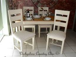 derbyshire country chic tables and 4 chairs