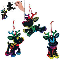 amazon com magic color scratch reindeer christmas ornaments 24