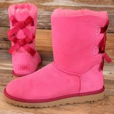 ugg boots 41 ugg shoes ugg bailey bow pink sheepskin boots us 7
