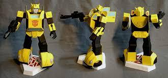 bumblebee pinata masamune s dimensional paper model locus