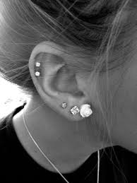 diamond cartilage piercing and diamonds simple jewelry