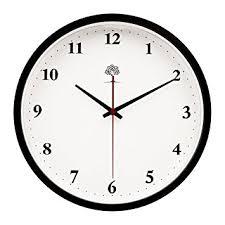 silent wall clocks amazon com hippih silent wall clock wood non ticking digital quiet