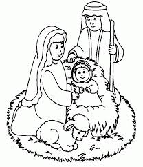 jesus nativity pictures kids coloring