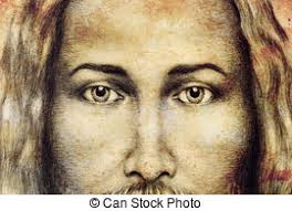 clipart of graphic art design face of jesus christ computer