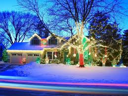 Blue Christmas Lights Decorations by Christmas Decor For Home And Exterior Christmas Lights