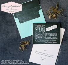 Funny Personal Business Cards Chalkboard Will You Be My Bridesmaid Card Will You Be My