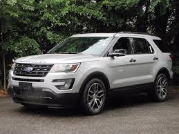 Ford Explorer 3 Rows - 2017 ford explorer sport in white platinum metallic tri coat for