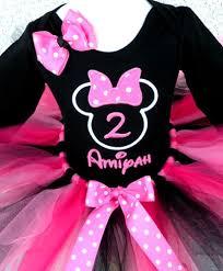 personalized pink black polka dot minnie birthday tutu