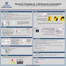 ppt research template for a 48x48 poster presentation powerpoint