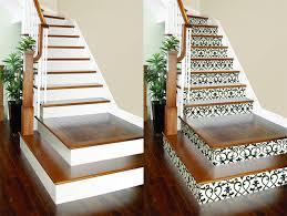 die treppe dekorieren ideen mit farbe tapetenresten wandsticker - Treppe Dekorieren
