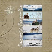 alaska photo album disney cruise custom album cover alaska scrapbook and alaskan