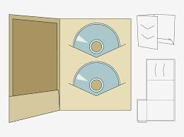free jewel case template paper craft vector footage of a printable cd case template fold