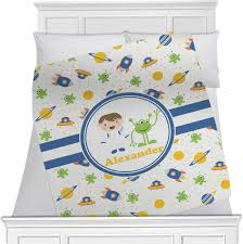 Space Themed Bedding Boy U0027s Space Themed Blanket Personalized Baby N Toddler