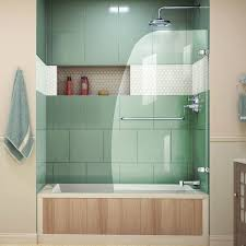 hinged glass shower door dreamline aqua uno 34