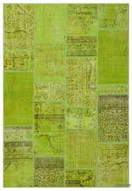 k0026884 green over dyed turkish patchwork rug kilim rugs