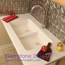Solid Surface Sinks Kitchen by Gemstone Makes The Only Cast Solid Surface Integral Universal