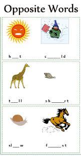 opposite words worksheets antonyms worksheets free printable 2nd