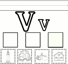 preschool learning u2013 letter v worksheet free printable sweet