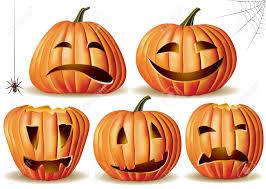 halloween pumpkin set contains transparent object eps 10