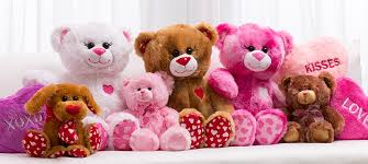teddy valentines day s day stuffed animals toys party city