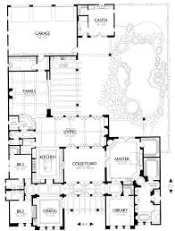 center courtyard house plans home plans house plan courtyard home plan santa fe style home