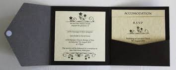 wedding invitation pocket pocket fold wedding invitation amulette jewelry