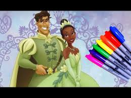 kids cartoons disney princess tiana coloring book fun art