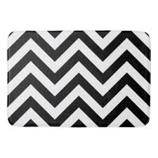 black white waves bath mats u0026 rugs zazzle