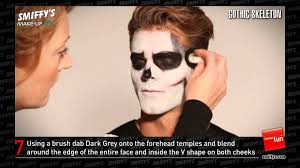 Skeleton Face Paint For Halloween by Gothic Skeleton Face Painting Make Up Tutorial Youtube