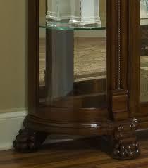 Curio Cabinets Richmond Va Curved End Curio Cabinet In Foxcroft Brown By Pulaski Home