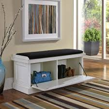 nantucket distressed white upholstered bench homestyles