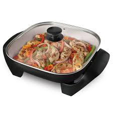 poele electrique cuisine poêle électrique oster duraceramic de 12 po ckstskfm12w 033 oster