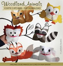 printable woodland animals cootie catchers u2013 origamis for kids