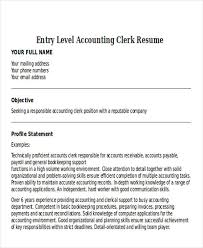 Entry Level Accountant Resume 21 Accountant Resume Templates Download Free U0026 Premium Templates