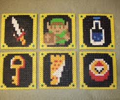 legend of zelda beverage coasters pearler beads 6 steps with