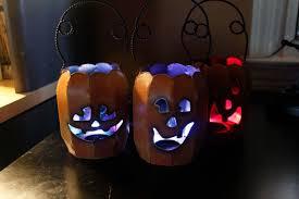 easy diy color changing halloween led decoration lights pumpkin