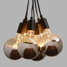 Light Bulb Ceiling Light Chrome Tip 6 Bulb Cluster Pendant L World Market