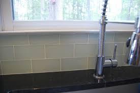 Interior  Glass Backsplash Blue Glass Tile Subway Tile - Peel and stick backsplash glass tiles